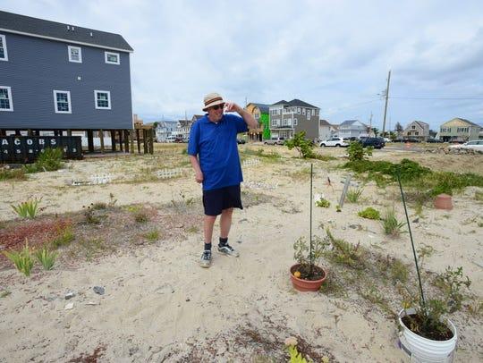 Ortley Beach resident Bill Mullen stands on an empty