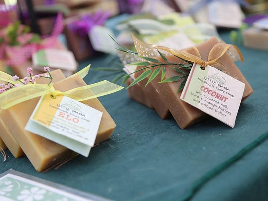 Hand crafted soap at Roadrunner Farmers Market.