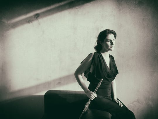 Flute player Catherine Gregory takes part in this weekend's concerts by Scrag Mountain Music.