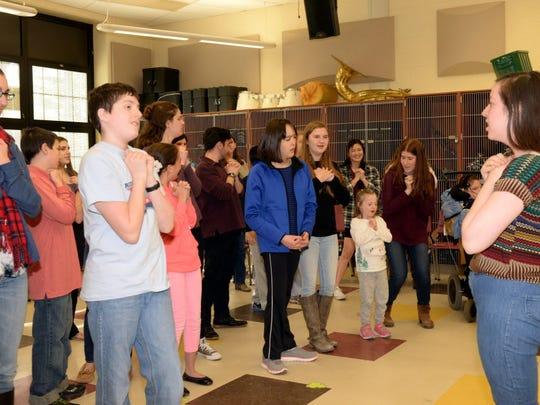 "Sharing the Arts rehearsal for ""Shrek"" in Glen Rock, March 22, 2016."