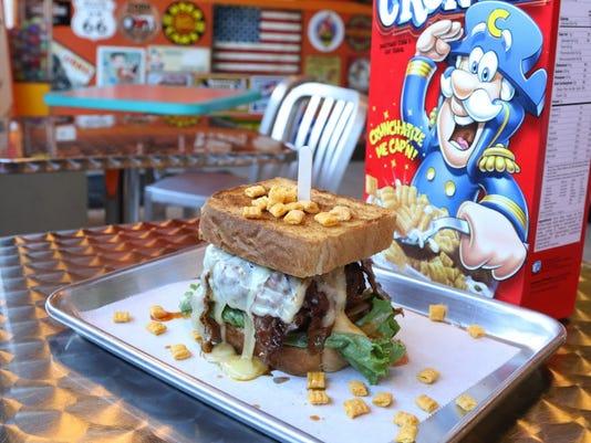 The Cap'n Crunch burger at Callahans.