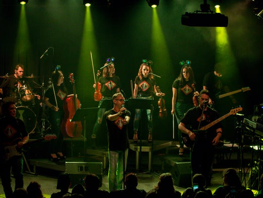 """White Tie Rock Ensemble performs music from the """"Guardians of the Galaxy"""" movies at Vinyl Music Hall last year. The group will perform Friday, March 1 at the Saenger Theatre."""