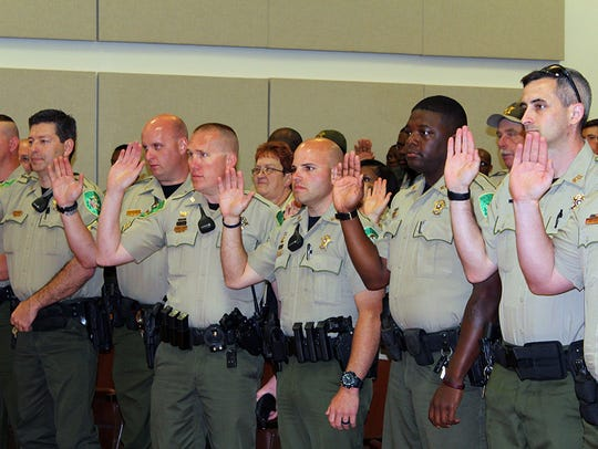 A line-up of DeSoto Parish Deputies who were among
