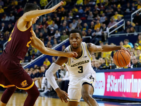 NCAA Basketball: Central Michigan at Michigan