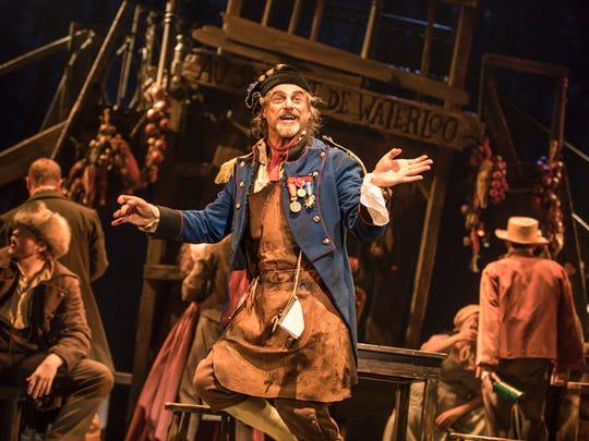"""J Anthony Crane as Thénardier in the new national tour of """"Les Miserables."""""""