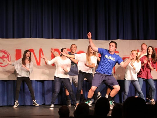 Students perform at a past Improv for Ron at Manasquan