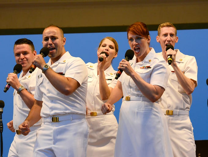The US Navy Concert Band, featuring the US Navy Sea