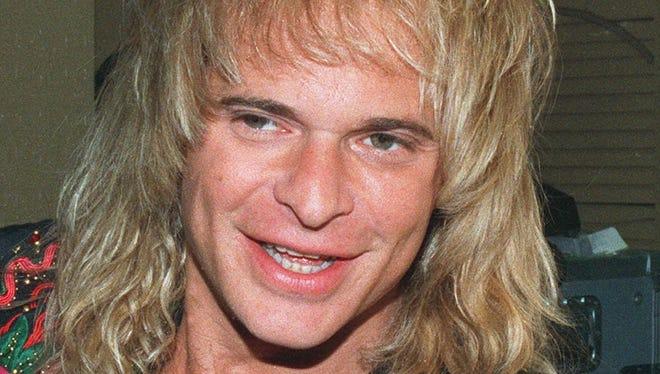 Former Van Halen singer David Lee Roth in 1988.s shown in this 1988 file photo.
