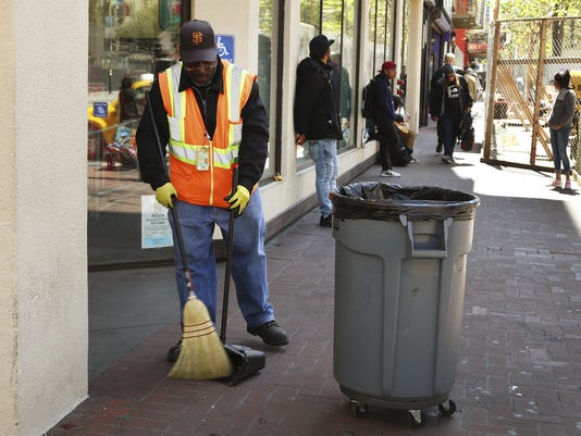 San Francisco sanitation worker