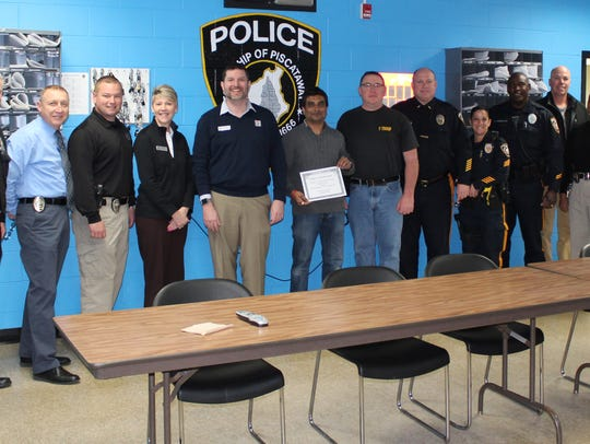 Piscataway Police Department officials including Capt.