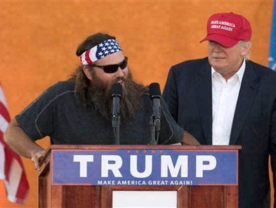 Willie Robertson appeared with Donald Trump during