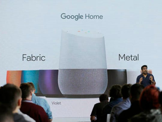 FILE - In this Oct. 4, 2016 file photo, Rishi Chandra, Google group product manager, talks about Google Home during a product event in San Francisco. Home, Google's new smart speaker, will be able to use voice to control Netflix and other video on Google's Chromecast streaming device.  Your streaming TV options just got better and cheaper. Features that once required a $100 device can now be had for as little as $30. A cheap device is fine for getting TV shows and movies from most popular services onto a big-screen TV, as long as it's a regular, high-definition set.