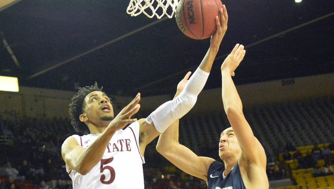 Matt Taylor and the New Mexico State have five of their next six games on the road, starting tonight at No. 23 Baylor.