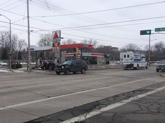 A Green Bay woman was killed Saturday in a crash just before noon at a Citgo station on corner of East Mason and Roosevelt Streets.