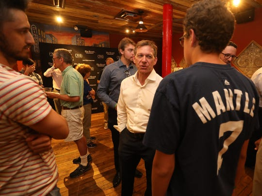 The Record Yankees beat writer Pete Caldera answers questions at the conclusion of the formal talk.
