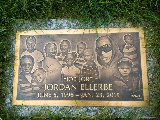 The gravestone of Jordan Ellerbe rests at Gracelawn Cemetery in an area called Garden of Serenity just 80 steps away from the grave of Brandon Wingo, a teen believed to be associated with a rival gang in Wilmington.