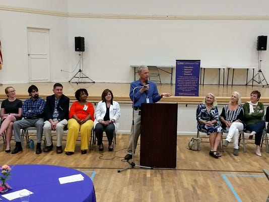 Pg_17_Paul Knoll speaks at Mental Health Awareness event with guest panelist