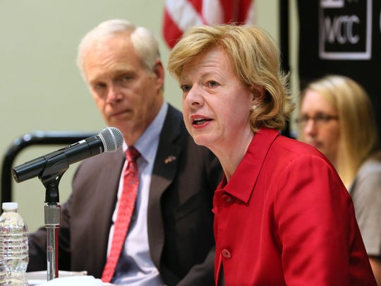 Wisconsin's U.S. senators, Ron Johnson and Tammy Baldwin.