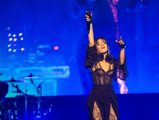 Camila Cabello, one of the biggest breakout stars of 2018, performed a song on her first tour accompanied by photos and footage of Trayvon Martin, the Women's March, Black Lives Matter protests and Parkland shooting survivor and activist Emma Gonzalez.