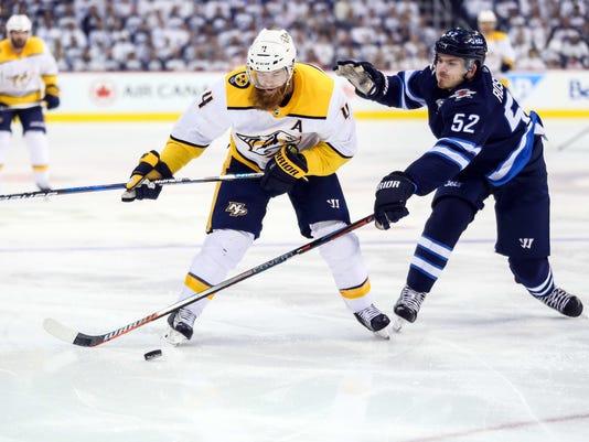 NHL: Stanley Cup Playoffs-Nashville Predators at Winnipeg Jets