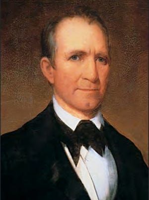 Sam Houston, 1827-1829. As a member of the 39th Infantry, he was wounded at the Battle of Horseshoe Bend. Elected to Congress in 1823 and governor in 1827. He cut his term short after his wife, Eliza, left him.