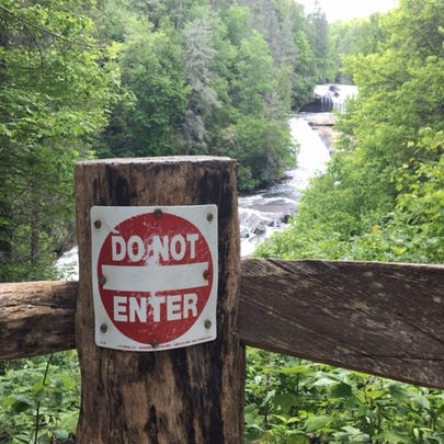 This sign at Triple Falls in DuPont State Recreational
