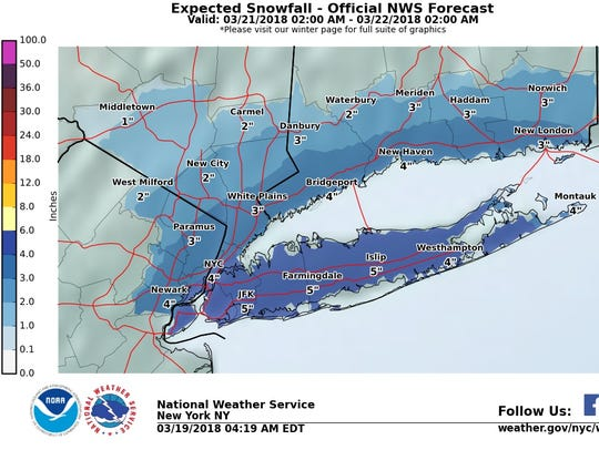 Snow could hit the Lower Hudson Valley between late