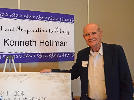MTSU's Kenneth Hollman was celebrated during a retirement dinner Tuesday, Aug. 25, 2015, at Stones River Country Club. Hollman is retiring after 33 years as the Martin Chair of Insurance at MTSU.