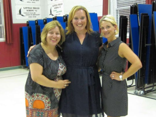 Superintendent Tracey Marinelli, left, with School #3 Principal Nicole Dilkes, center, and  School #2 Principal Jill Castaldo.