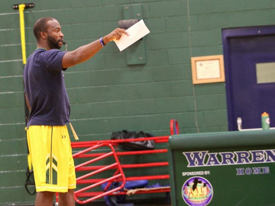 Anthony Barringer leads the Warren Wilson College Owls in practice recently.
