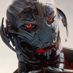 """Ultron (the voice of James Spader) is out to save humanity by destroying Earth in """"Avengers: Age of Ultron."""""""