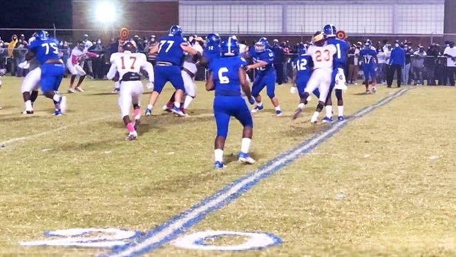 It was a close game between the Blackville-Hilda Hawks and Williston-Elko Blue Devils on Oct. 30 until the Hawks took the lead and victory in the fourth quarter.