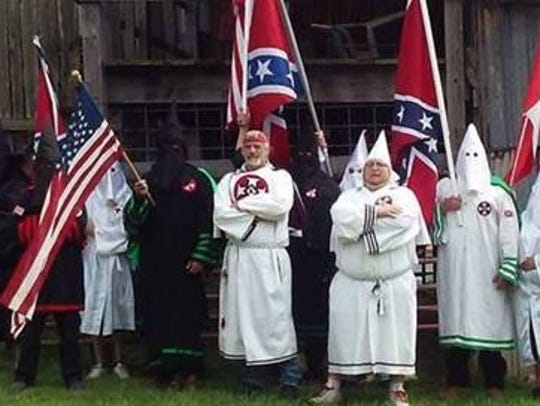 In this photo are members of the Confederate White