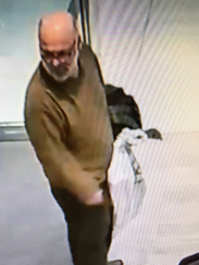 The city of Brookfield Police Department is searching for a suspect who stole an expensive suit from a Brookfield Square store.