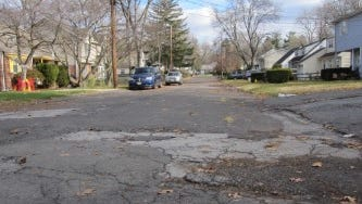 Carlson Place in Bergenfield will be repaved in the spring.