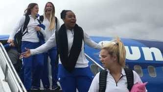 The FGCU women's basketball team arrives in San Jose, California, on Thursday afternoon. The  Eagles play Missouri at Stanford in Palo Alto on Saturday afternoon in an NCAA tournament first round matchup.