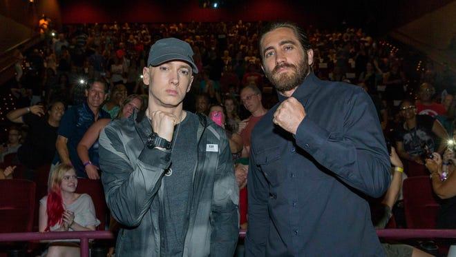 Eminem (left) and Jake Gyllenhaal