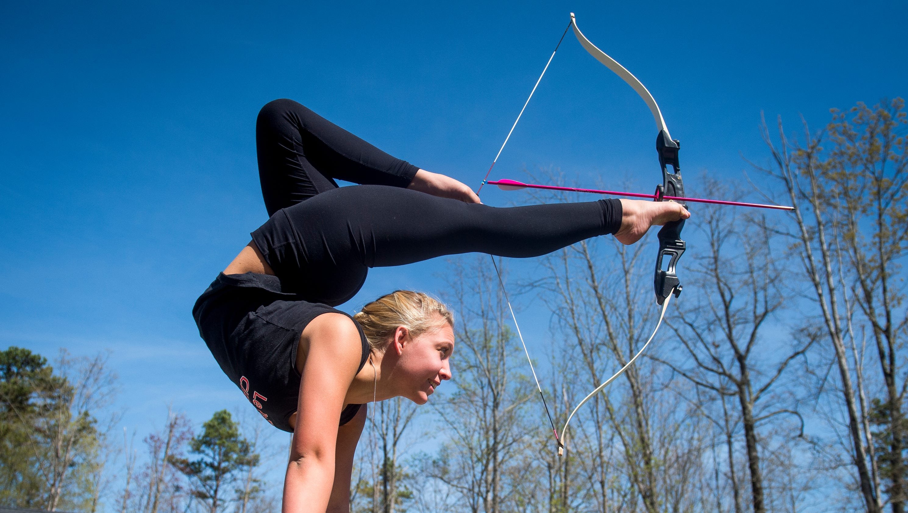 Feat Of Agility Knox Teen Shoots Bow Amp Arrow Using Only Her Toes