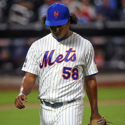 Mets relief pitcher Jenrry Mejia has appeared in seven