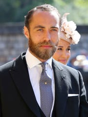 James Middleton arrives at the royal wedding of Prince Harry and Meghan Markle last May.