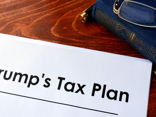 Document with title Trump Tax Plan.