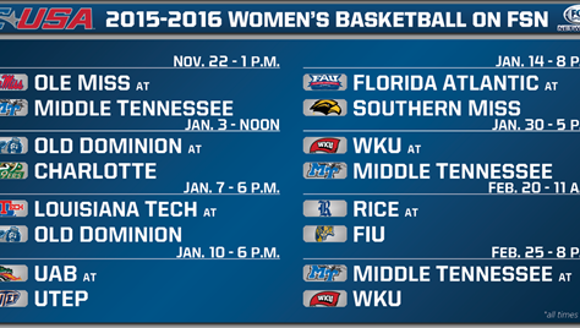 MTSU women's basketball to be on Fox Sports twice this