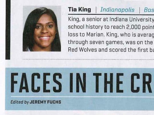 Indiana University East senior women's basketball All-American
