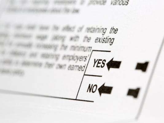 Yes or No Choice on Voting Ballot