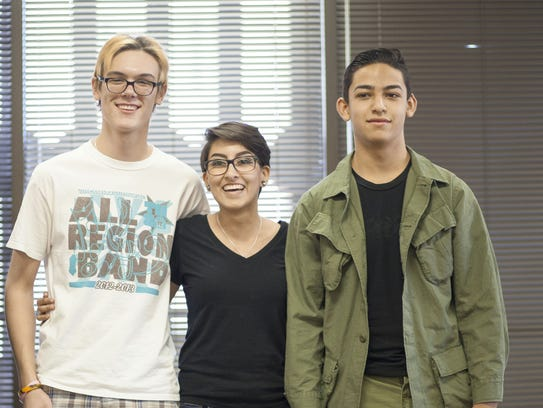 Robert Garland, left to right, Amber Cortez and Tommy