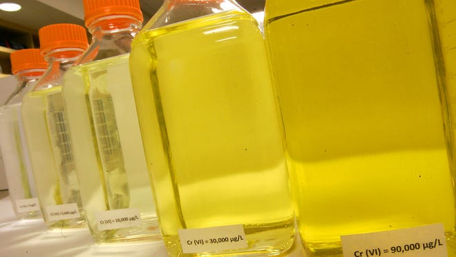 Water samples containing hexavalent chromium have a yellow color.