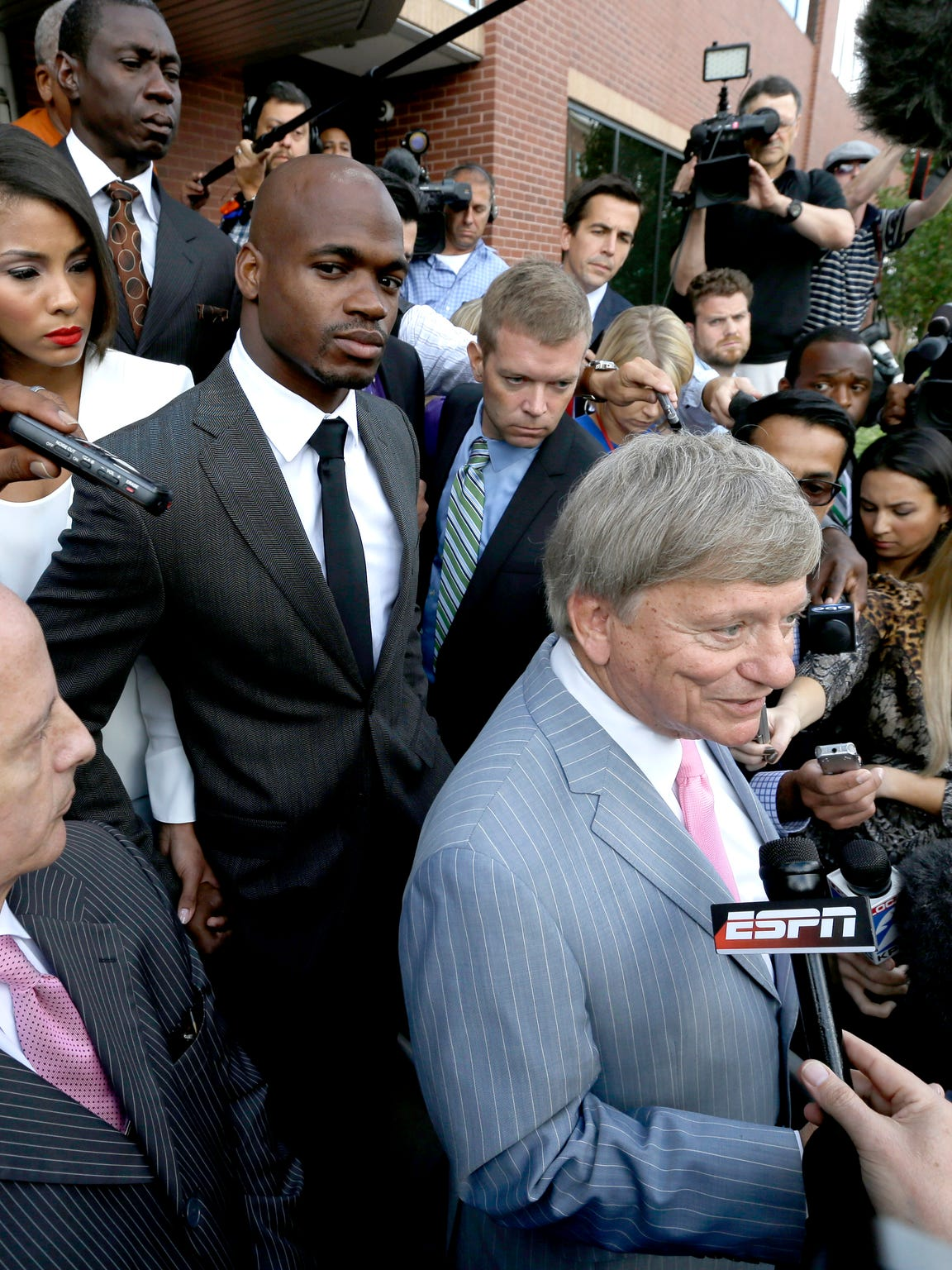 Adrian Peterson and his wife, Ashley Brown Peterson,