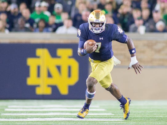 Sep 30, 2017; South Bend, IN, USA; Notre Dame Fighting