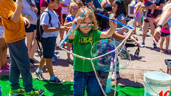 Young scientists can make their own bubbles at Glendale's Westgate Entertainment District's Bubble Bash from 11 a.m.-1 p.m. on May 5.