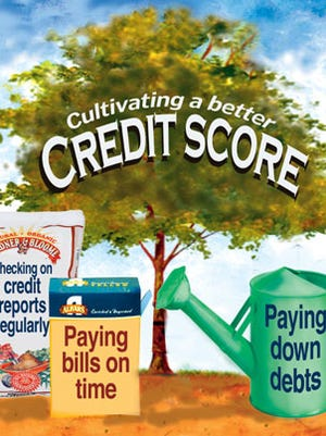 Illustration explains what's needed to achieve a better credit store and avoid being victimized by predatory lenders.